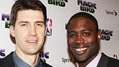 Be sure to catch Tug Coker as Larry Bird and Kevin Daniels as Magic Johnson live at the Longacre Theater in Magic/Bird.