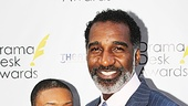 Outstanding Actor in a Musical nominee Norm Lewis makes the scene with a friend.