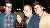 Zachary Quinto, Cristin Milioti, Jesse Tyler Ferguson and Justin Mikita pause for a hot pic at the party. 
