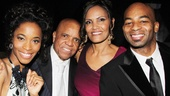 Valisia LeKae, Berry Gordy (with girlfriend Eskedar Gobeze) and Brandon Victor Dixon flash some winning smiles on opening night.