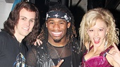 DeAngelo Williams strikes a rocker pose with Rock of Ages stars Tony LePage (on for Aaron C. Finley as Drew) & Kate Rockwell.