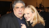 Bullets Over Broadway star Vincent Pastore comes in close for a photo with director Susan Stroman.