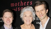Mothers and Sons stars Bobby Steggert, Tyne Daly, Frederick Weller and Grayson Taylor flash big smiles on opening night.