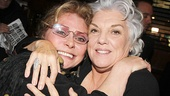 Elizabeth Ashley and Tyne Daly share a tender moment—Ashley appeared as a guest star on Daly's hit series Cagney & Lacey almost 30 years ago!