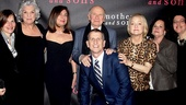 Producer Debbie Bisno, Tyne Daly, producer Paula Wagner, playwright Terrence McNally, his husband, producer Tom Kirdahy, producers Loraine Alterman Boyle and Barbara Freitag & director Sheryl Kaller.