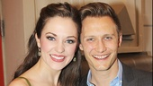 The Threepenny Opera star Laura Osnes catches the show with her husband Nathan Johnson, who took the front of house and poster photos for The Velocity of Autumn.