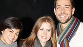 Amy Adams gives a good first impression with First Date stars Krysta Rodriguez and Zachary Levi.
