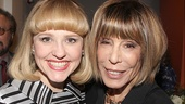 Anika Larsen, who plays Cynthia Weil in Beautiful, with Cynthia Weil