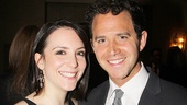 Act One star Santino Fontana and his girlfriend Jessica Hershberg salute Sam Mendes.