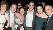 The Book of Mormon star Ben Platt (c.), Wicked producer Marc Platt (r.) and their family rally around Idina Menzel.