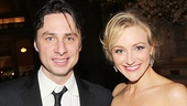 Bullets stage sweethearts Zach Braff and Betsy Wolfe take a gorgeous parting shot.
