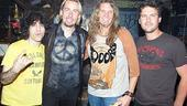 Nickelback at Rock of Ages - Jon Weber - Joel Hoekstra - Chad Kroeger - Ryan Peake 