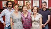A final snap at Sardi's for Norman Conquests stars Stephen Mangan, Amelia Bullmore, Jessica Hynes, Ben Miles, Amanda Root and Paul Ritter. Bravo, all!