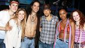 Jason Mraz and Judd Apatow at Hair - Jason Mraz - Gavin Creel - Caissie Levy - Will Swenson - Sasha Allen - Megan Reinking