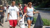 Doreen Montalvo leads the pack of trash-hunters as they scout for areas that need their services…