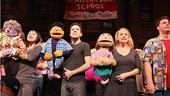 Avenue Q Final Broadway  curtain call  full cast 