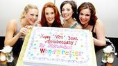 Suzy, Missy, Cindy Lou and Betty Jean, aka Kirsten Bracken, Misty Cotten, Christina Decicco and Lindsay Mendez, mark their one-year anniversary like perfect ladies.