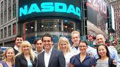 Shrek at NASDAQ – group outside