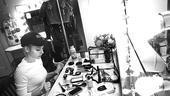 Kerry Butler first performance in Rock of Ages  Kerry Butler (makeup table)