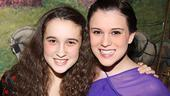 Such devoted sisters! Gracie Bea Lawrence and Spring Awakening alum Alexandra Socha play Laurie and Nora Morton, who live with the Jerome family in Brighton Beach.