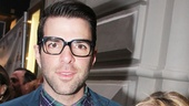 The Glass Menagerie co-stars Zachary Quinto and Celia Keenan-Bolger arrive together.