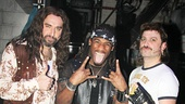 DeAngelo Williams has nothin' but a good time with Rock of Ages stars Adam Dannheisser & Genson Blimline!