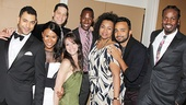 Rent reunion! Justin Johnston, Christina Sajous, Ben Thompson, Caren Tackett, Marcus Paul James, Aisha De Haas, Andy Senor and King Aswad snap a photo.