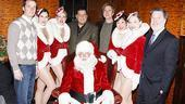 We'd like to say this is the new Rockettes kick line, but we'd be lying. The Rockettes and onstage pal Santa Clause welcome special guests Lawrence Tynes of the New York Giants, TV's Steve Schirripa, actor and Garden of Eden Foundation board member Matthew Modine and Garden of Dreams board member Hank Ratner for their big night.