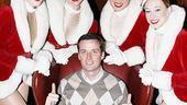 New York Giants footballer Lawrence Tynes also reaps the benefits of the Rockette's hospitality.