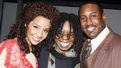 Coalhouse and Sarah, meet Whoopi! Stephanie Umoh, Whoopi Goldberg and Quentin Earl Darrington are all smiles.
