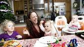 Day in the Life of Melissa Errico – Melissa Errico – daughter Juliette – daughter Diana = daughter Juliette (eating)