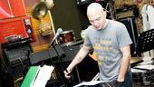 Cerveris preps with pianist Eddie Zweiback (not pictured) for his late-night performance at the Loser's Lounge...