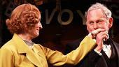 Victor Garber plants one on his leading lady and longtime friend, costar Lisa Banes.