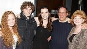 Damiano and Chanler-Berat at Joe's Pub – Jennifer Damiano – mother Nancy – father Patrick – sister Elizabeth – brother Mark