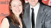 A comedy tonight! Mr. and Mrs. Fitch stars Jennifer Ehle and John Lithgow beam on opening night.