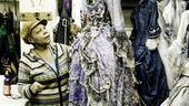 Erna Diaz has been Christine's dresser since Phantom began in 1988! Here, she prepares to steam one of our heroine's costumes.