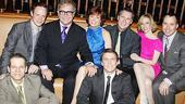 Next Fall stars Patrick Breen, Sean Dugan, Connie Ray, Patrick Heusinger, Cotter Smith and Maddie Corman get the party started in style with producers Sir Elton John and David Furnish.