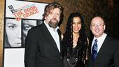 Playwright Suzan-Lori Parks gets between Artistic Director Oskar Eustis and Executive Director Andrew D. Hamingson.
