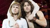 Kyle Riabko as Claude, Diana DeGarmo as Shelia and Ace Young as Berger in Hair.