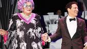 Bravo! Dame Edna and Michael Feinstein, Broadway's new odd couple, take their opening night bows.
