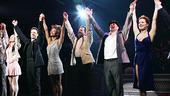 The awe-inspiring Come Fly Away cast takes an opening night bow.