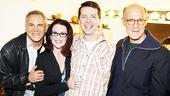 Burnett &amp; Mullally at Promises, Promises  Craig Zadan  Megan Mullally  Sean Hayes - Neil Meron