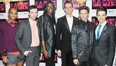 La Cage aux Folles Opening Night  Sean Carmon  Logan Keslar  Terry Lavell  Nicholas Cunningham  Nick Adams  Sean Patrick Doyle