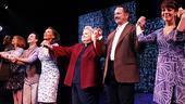 The cast of Sondheim on Sondheim is all smiles as their opening night rolls merrily along.
