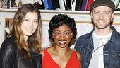 Justin Timberlake at Memphis  Jessica Biel  Montego Glover  Justin Timberlake