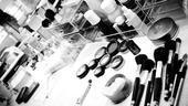 Douglas Hodge Backstage at La Cage – makeup table