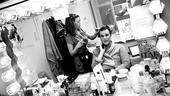 Douglas Hodge Backstage at La Cage  mirror