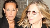 "Who's Barbra's ""date"" for Broadway's hot play? Why, it's superstar fashion designer Donna Karan."