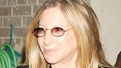 Playbill and ticket in hand, Barbra Streisand gets ready to take in a performance of Fences.