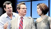 Tuc Watkins as Joe White, Peter Scolari as Alan and Christy Carlson Romano as Michelle in White's Lies